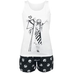 The Nightmare Before Christmas - Jack & Sally  - pyjama constitué d'un top…