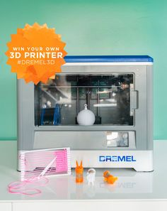 Take a peek at the super fun projects we're making with our new Dremel 3D Printer and enter to for a chance to win one of your own!