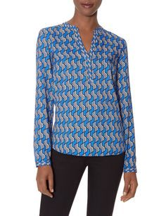 Printed Split-V Blouse from THELIMITED.com #TheLimited