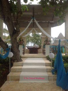 Zoetry Agua Punta Cana Wedding Gazebo Garland Sand Ceremony