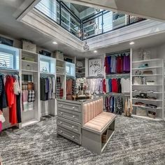 Ideas Small Master Bedroom Closet Ideas Walk In Wardrobes For 2019 Walk In Closet Design, Closet Designs, Interior Design Magazine, Design Café, Design Ideas, Closet Lighting, Closet Chandelier, Master Bedroom Closet, Master Suite