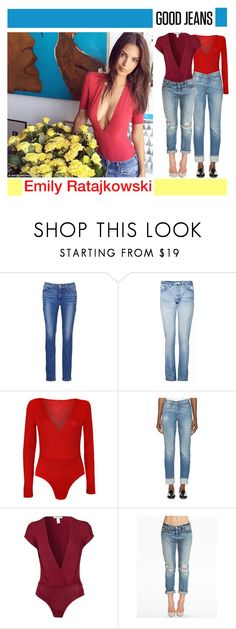 """""""Get the Look: High-Waisted Jeans"""" by yours-styling-best-friend ❤ liked on Polyvore featuring Levi's, RE/DONE, WearAll and Oneness"""
