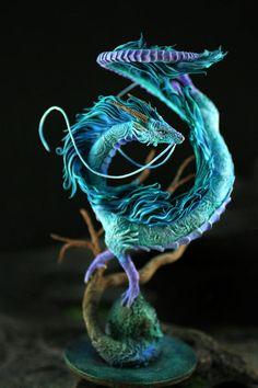 Haku Dragon Miyazaki Spirited Away Ghibli figurine fanart fantasy art sculpture handmade buy on Etsy Fantasy Animal, Fantasy Art, Animal Sculptures, Sculpture Art, Wire Sculptures, Abstract Sculpture, Photo Sculpture, Bronze Sculpture, Miyazaki Spirited Away