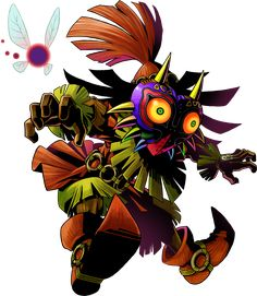 View an image titled 'Skull Kid Art' in our The Legend of Zelda: Majora's Mask art gallery featuring official character designs, concept art, and promo pictures. The Legend Of Zelda, Legend Of Zelda Tattoos, Legend Of Zelda Breath, Ben Drowned, Kid Character, Character Design, Tumblr Posts, 3d Art Gallery, Majora Mask