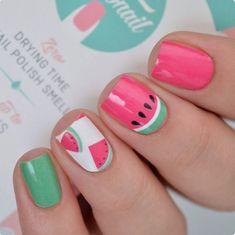 Nails watermelon Watermelon Watermelon Nail Wraps by Personail Watermelon Nail Designs, Watermelon Nail Art, Girls Nail Designs, Cute Nail Designs, Pretty Designs, Nail Art For Kids, Nail Art Kids, Cute Kids Nails, Nagellack Design