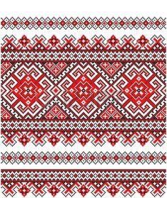 bordado bien como patr�n de Ucrania �tnico a mano cruz-puntada photo