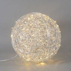 Bodenleuchte Draht Kugel 60cm LED Aluminium