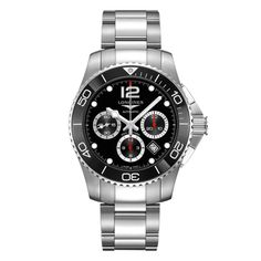 Shop the latest collection of Longines HydroConquest - - Divers Chronograph Black Dial Automatic Men's from the popular stores - all in one Breitling Navitimer, Longines Hydroconquest, Tudor Black Bay, Cool Watches, Rolex Watches, Watches For Men, Luxury Watches, Rolex Oyster Perpetual, Patek Philippe