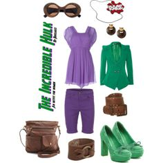 The Incredible Hulk (outfit for women) by Rhosauce