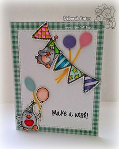 Your Next Stamp:  Waddles Happy Brrr-thday stamp set and coordinating dies, Stitched Rectangle Dies, and Mini Balloon Trio Die Set  #yournextstamp