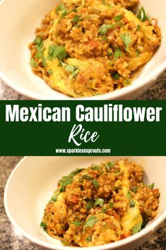 Keto Mexican Cauliflower Rice is the perfect quick fix side for dinner tonight.  It is loaded with tons of flavor without a ton of carbs or guilt, making this a dish everyone can enjoy. . #keto #cauliflower #cauliflowerrice #mexican #side #sparklesnsprouts