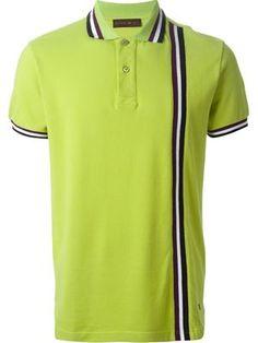 Designer Polo Shirts for Men 2015 - Farfetch Polo T Shirts, Golf Shirts, Collar Shirts, Polo Shirt Design, Pique Polo Shirt, Golf Fashion, Golf Outfit, Mens Clothing Styles, Mens Tees