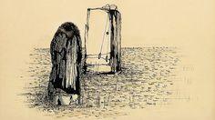 Toyen: přípravná kresba k obrazu Sen