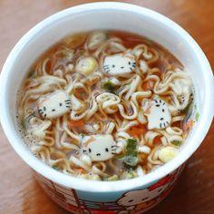 Hello Kitty Ramen Noodles @Cara Schatz @Carly Jackson