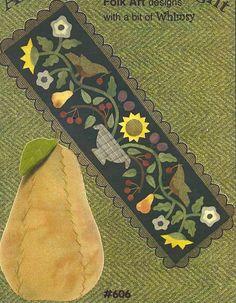 Primitive+Folk+Art+Wool+Applique+Pattern++by+PrimFolkArtShop,+$8.50
