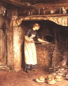 Baking Bread ~ Helen Allingham ~ (English: 1848-1926)