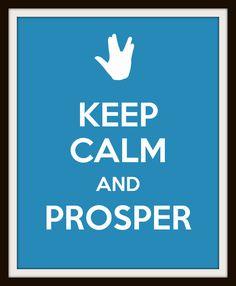 Keep calm and prosper