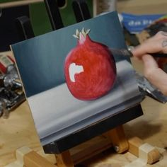 Oil on canvas board, 2020, 15x20cm. Quick time lapse I did while painting  this still life with a pomegranate. Enjoy!!    . . #hyperrealism #contemporaryart #oilpainting #painting #oiloncanvas #art #fineart #italianpainter #handpainted #realism #drawing #realisticpainting #artwork #iperrealismo #paintingoftheday #artstudio #instaart #artstagram #artofinstagram #stilllife #stilllifepainting #fruit #pomegranate #melograno #fruitart #timelapse