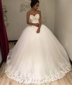 Plus-Size Wedding Dress 2017 Pregnant Women's Pearls -Beaded-Applique