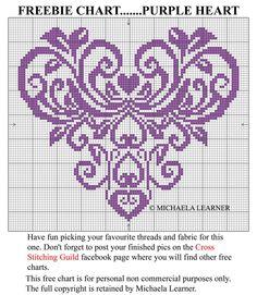 lovely tapestry crochet try? Free Cross Stitch Charts, Just Cross Stitch, Cross Stitch Heart, Embroidery Hearts, Cross Stitch Embroidery, Embroidery Patterns, Cross Stitch Designs, Cross Stitch Patterns, Crochet Cross