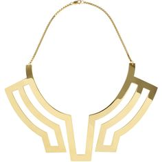 Maria Piana Gold Collar Necklace (£1,550) found on Polyvore