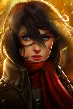 Attack on Titan: Mikasa Ackerman - Created by Kathryn Steele You can support this artist on Patreon.