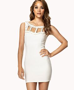 Studded Cutout Bodycon Dress | FOREVER21 - 2074509151