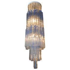 Large italian venini murano glass chandelier antigedades muebles large murano pendant chandelier aloadofball Images