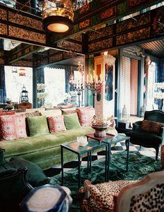 Sitting room in Tony Duquette's Dawnridge