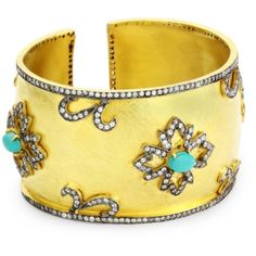 "Kanupriya ""Heritage Collection"" 22k Gold-Plated Cuff Bracelet"