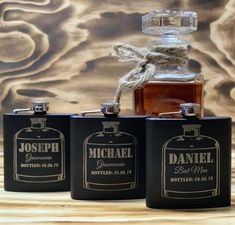 The Best Groomsmen Flask: Free Shipping & Personalization - Groovy Groomsmen Gifts Groomsmen Flask, Best Groomsmen Gifts, Groomsman Gifts, Best Man Wedding, Family Picnic, Bourbon, Whiskey Bottle, Drinking, Beverages