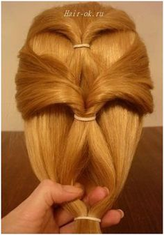 Original hairstyle in 5 minutes. Continued. Figure 6. http://beauty-health.info