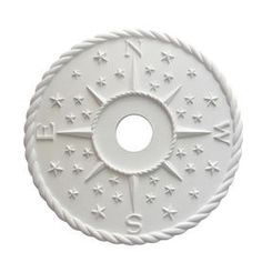 Marie Ricci Handmade x White/Primed Urethane Ceiling Medallion at Lowe's. Artist, designer and woodcarver, Marie has been designing and carving for over 25 years; building a client that includes high end interior designers, Nautical Nursery Decor, Nautical Home, Coastal Decor, Nautical Kitchen, Nautical Style, Star Ceiling, Ceiling Rose, Baby Shower Gifts, Baby Gifts
