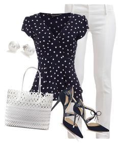 """Nice in Navy"" by toots2271 ❤ liked on Polyvore"