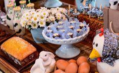'Fazendinha' -Coelho, galinha e margaridas também marcaram presença na decoração
