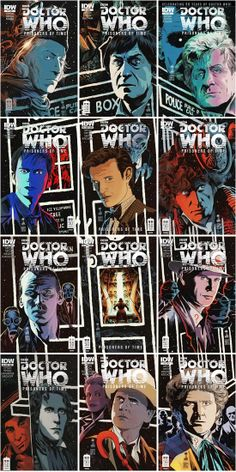 Doctor Who comic book covers, combined // Yay! Because the picture I took of mine kind of sucked.. XD