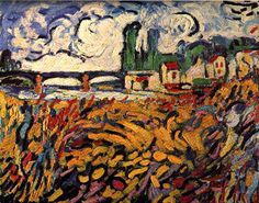 The Bridge at Chatou, by Maurice de Vlaminck (French, 1876–1958).