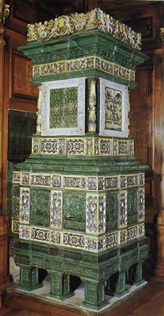 Chapter 9. A kachelofen is a tiled stove in a domestic building that had small niches for heating water or drying small items. Some had ovens incorporated in them. http://www.antike-kacheloefen-muenchen.de/imgs/einfuehrung_17jhd.jpg
