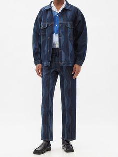 Wave Pattern, Menswear, Denim, Jeans, Cotton, Jackets, Collection, Shopping, Fashion