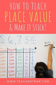 Most students have a surface level understanding of place value. Learn 3 simple strategies and easy activities for going deeper with place value concepts! And grab the Place Value Mat Freebie! value 3 Secrets for Teaching Place Value Maths Guidés, Math Classroom, Teaching Math, Year 6 Maths, Math Fractions, Fourth Grade Math, Second Grade Math, Math Resources, Math Activities