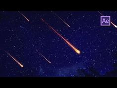 How To Create a Meteor Fly-by - After Effects Tutorial (Trapcode Particular) - YouTube
