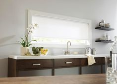 Budget Blinds White  Cellular Shades