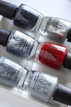 OPI Fifty Shades Of Grey Collection Swatches via @FabFatale