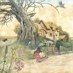 Illustration for 'The Wind in the Willows' published in 2016 by Books Illustrated Ltd. A happy Mr Toad... Pen and Ink and Watercolour by Angel…