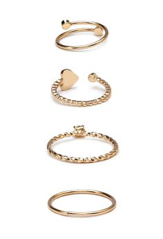 Heart Charms Ring Set | FOREVER21 #Accessories #Rings - http://AmericasMall.com/categories/juniors-teens.html