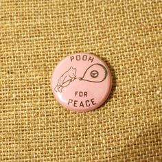 Pooh For Peace 1 Button Pinback Badge by thelittlekangaroo on Etsy