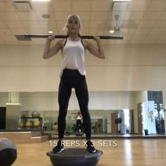 Here's a few exercises that are going to work your entire body. Sometimes I get so stuck in doing heavy weights every day that I forget how beneficial exercises are that take balance and control! Try this circuit at the end of your workout and remember to Best Weight Loss, Weight Loss Tips, Weight Lifting, Protein Shakes, Cara Van Brocklin, Bosu Workout, Workout Circuit, Workout Fun, Girl Workout