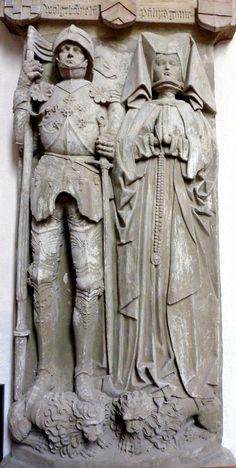 Effigies of Count Philipp I von Rieneck (d. 1488) and his wife, Bavaria