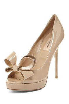 Valentino Peep Toe Patent Bow Pump    {and to think i used to not be into anything girly like bows and lace}