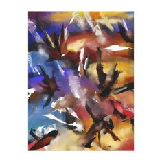 """Impression on fabric Abstract 1.1705 """" Canvas Print - artists unique special customize presents"""